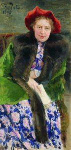 14. Repin I.E. Portret N.B. Nordman Severovoj 1909 Novgorodskij muzej. 142x300 - Жены. Музей русского импрессионизма